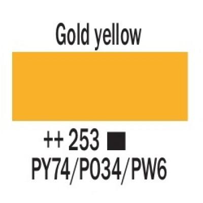 Золотисто-жовтий (253), 20 мл., AMSTERDAM, акрилова фарба
