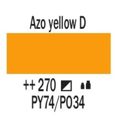 AZO Жовтий темний (270), 20 мл., AMSTERDAM, акрилова фарба
