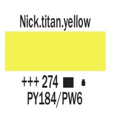 Нікелево-титановий жовтий (274), 20 мл., AMSTERDAM, акрилова фарба