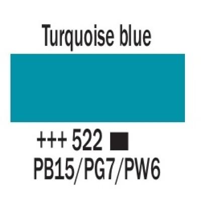 Бірюзовий синій (522), 20 мл., AMSTERDAM, акрилова фарба
