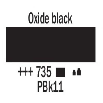 Оксидний чорний (735), 120 мл, акрилова фарба Amsterdam, Royal Talensss