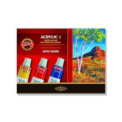 Набір акрилових фарб, ТМ KOH-I-NOOR, 6 кольорів, 16 мл
