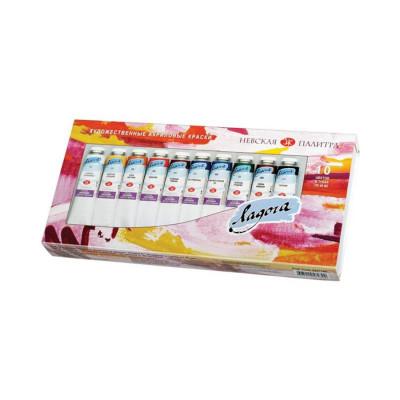 Набір акрилових фарб, Ладога, 10 кольорів по 46мл