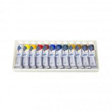Набір темперних фарб, 12 кольорів по 18 мл., Майстер-Клас ЗХФ