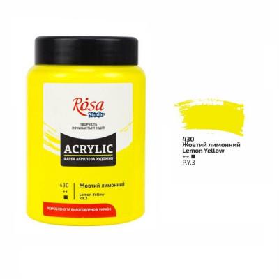 Фарба акрилова Жовта лимонна Роса 400мл