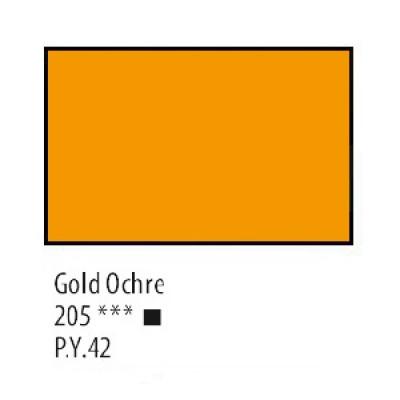 Охра золотиста акрилова фарба, 75 мл, Сонет