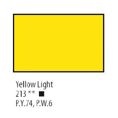 Жовта світла акрилова фарба, 75 мл, Сонет