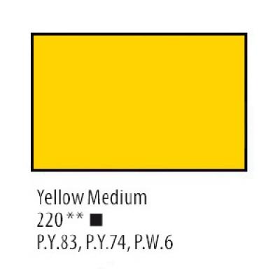 Жовта середня акрилова фарба, 75 мл, Сонет