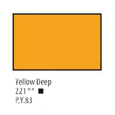 Жовта темна акрилова фарба, 75 мл, Сонет