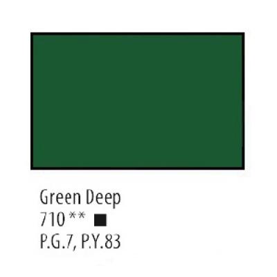 Зелена темна акрилова фарба, 75 мл, Сонет