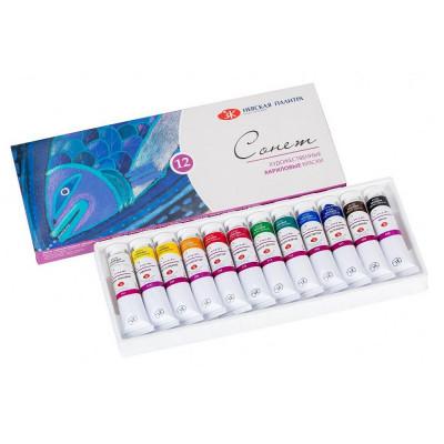 Набір акрилових фарб, 12 кольорів по 18 мл., Сонет ЗХФ 28411326