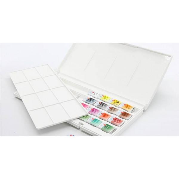 Пенал для акварельных красок пластиковий, на 36 кювет, ЗХК Невская палитра