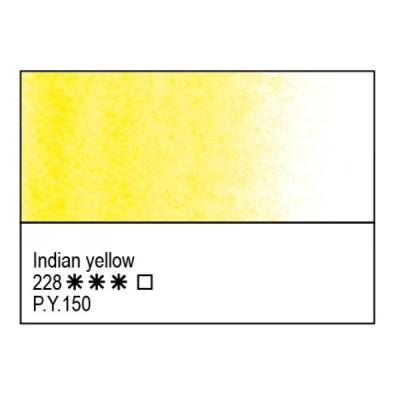 Індійська жовта акварельна фарба, 2.5мл, ЗХФ Білі Ночі 228