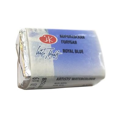 Королівська блакитна акварельна фарба, кювета 2.5 мл., ЗХФ Білі Ночі 528