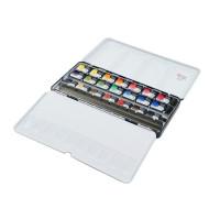 Набір акварельних фарб, 21 колір в кюветах, ROSA Gallery 340021