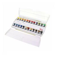 Набір акварельних фарб, 24 кольори в кюветах, ROSA Gallery 340301