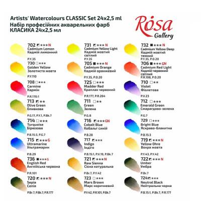 Акварельні фарби Роса 24 кольори 340301