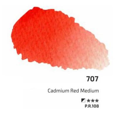 Кадмій червоний середній акварельна фарба, 2.5 мл, ROSA Gallery 707