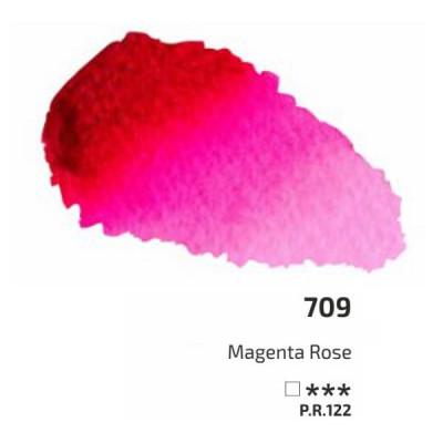 Маджента рожева акварельна фарба, 2.5 мл, ROSA Gallery 709