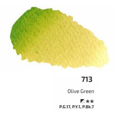 Оливкова акварельна фарба, 2.5 мл, ROSA Gallery 713