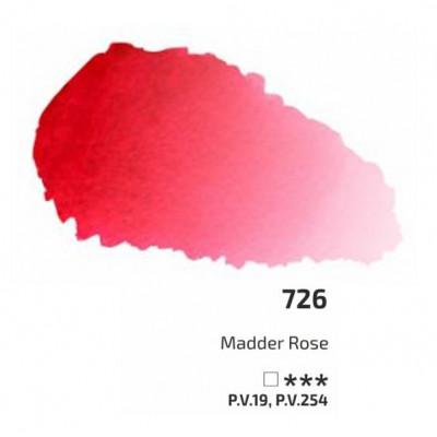 Краплак рожевий акварельна фарба, 2.5 мл, ROSA Gallery 726
