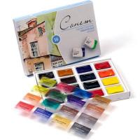 Набір акварельних фарб, Сонет, 16 кольорів в кюветах, картон