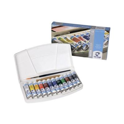 Набір акварельних фарб Van Gogh, 12 кольорів по 10 мл., В пластиковому пеналі