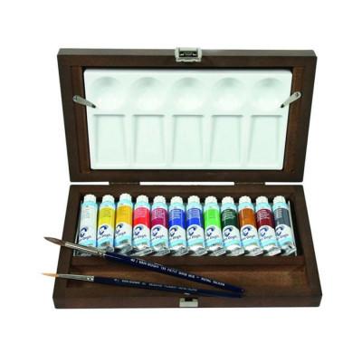 Набір акварельних фарб Van Gogh, 12 кольорів по 10 мл., В дерев'яному пеналі