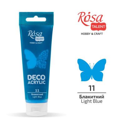 Блакитний, матовий, Акрил для декору, 75 мл, ROSA TALENT