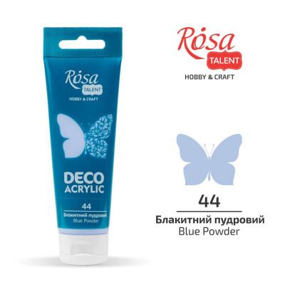 Блакитний пудра, матовий, Акрил для декору, 75 мл, ROSA TALENT