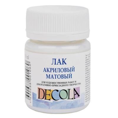 Лак акриловий матовий, 50 мл., Decola