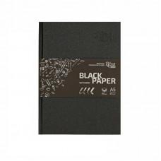 Блокнот A5 (14,8*21см), чорний папір, 80г/м, 96л., ROSA Studio