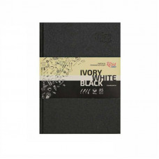 Блокнот A5 (14,8*21см), слонова кістка, чорний та білий папір, 80г/м, 96л., ROSA Studio
