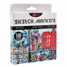Набір маркерів, 18 кольорів, SANTI sketch