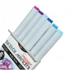 Набір маркерів, 6 кольорів, Seascape SANTI sketch