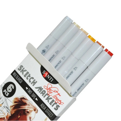 Набір маркерів, 6 кольорів, Skin Tones SANTI sketch