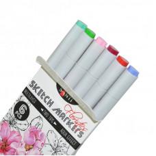 Набір маркерів, 6 кольорів, Floristics SANTI sketch