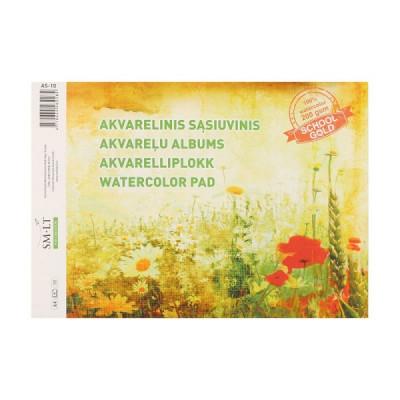 Альбом-склейка для акварелі, А4, 10л, 200г/м2, Gold SMILTAINIS