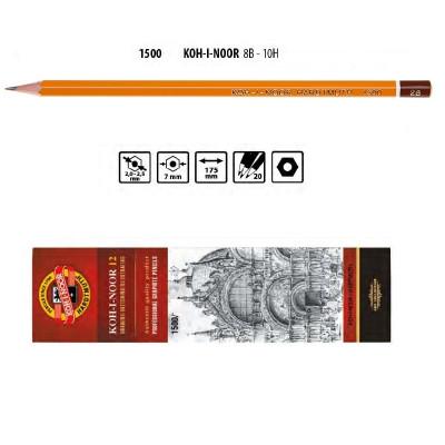 Олівець графітний 1500 2В, KOH-I-NOOR