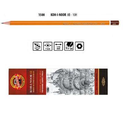 Олівець графітний 1500 2H, KOH-I-NOOR