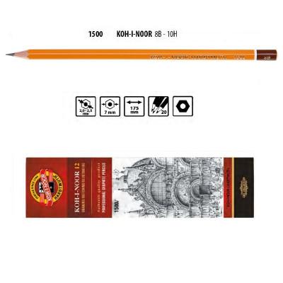 Олівець графітний 1500 3В, KOH-I-NOOR
