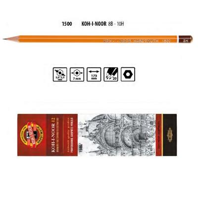 Олівець графітний 1500 3H, KOH-I-NOOR