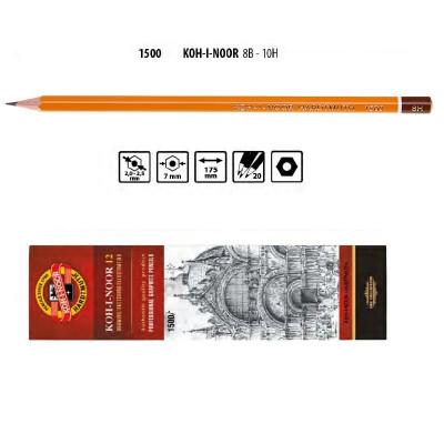 Олівець графітний 1500 8H, KOH-I-NOOR