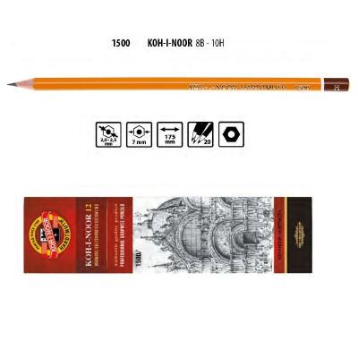 Олівець графітний 1500 H, KOH-I-NOOR