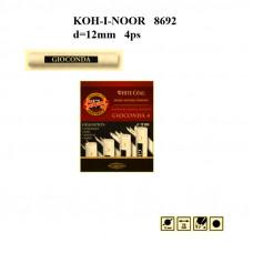 Набір вугілля хдожнього, d12mm, біле, 4шт. різної твердості-мякості. KOH-I-NOOR 8692