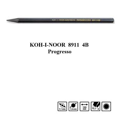 Олівець бездеревний Progresso 8911 4B, Koh-i-Noor