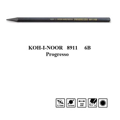 Олівець бездеревний Progresso 8911 6B, Koh-i-Noor