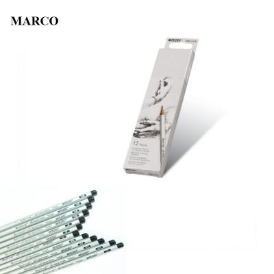 Набір графітових олівців, 12 шт. (H, H, B, B, HB, HB, 2H, 3H, 2B, 2B, 3B, 4B), MARCO Raffine 7000-12CB