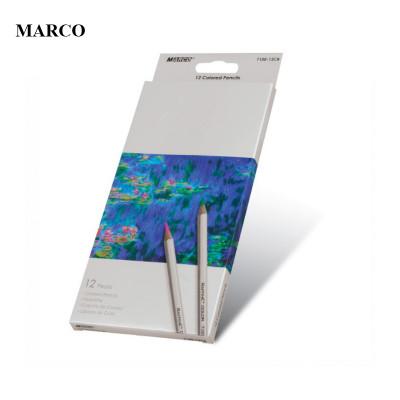 Набір кольорових акварельних олівців, 12 кольорів, MARCO Raffine 7120-12CB