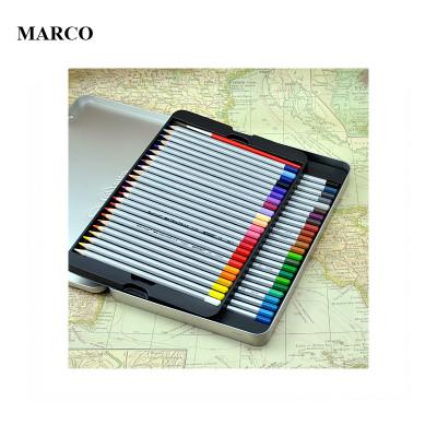 Набір кольорових акварельних олівців, 36 кольорів, в металевому пеналі, MARCO Raffine 7120-36TN